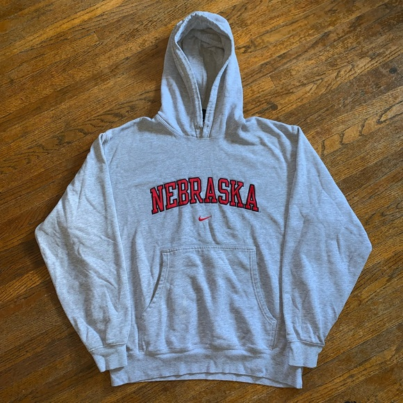 exótico progenie cubo  Nike Shirts | Nike Nebraska Hoodie Sweatshirt | Poshmark